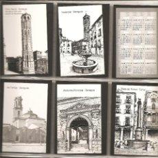 Coleccionismo Calendarios: 18 CALENDARIOS, VISTAS DE ARAGÓN, DIBUJOS A PLUMILLA DE ALFONSO CIFUENTES, 2002, TODOS DISTINTOS, . Lote 117030327