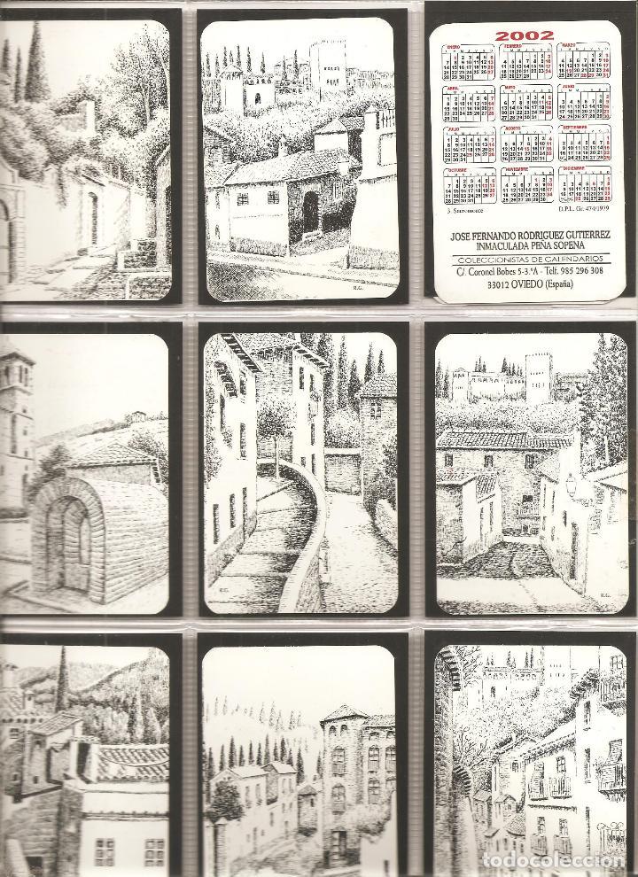 18 CALENDARIOS, RINCONES DE GRANADA, DIBUJOS A PLUMILLA , 2002, TODOS DISTINTOS, (Coleccionismo - Calendarios)