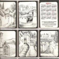 Coleccionismo Calendarios: 18 CALENDARIOS, RINCONES DE GRANADA, DIBUJOS A PLUMILLA , 2002, TODOS DISTINTOS, . Lote 117140047