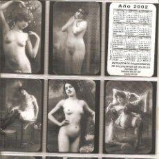Coleccionismo Calendarios: 18 CALENDARIOS,DESNUDOS, 2ª SERIE, 2002, TODOS DISTINTOS, . Lote 117143491
