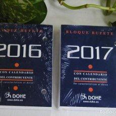 Coleccionismo Calendarios: LOTE DE DOS RECAMBIOS SIN ESTRENAR PARA CALENDARIO O ALMANAQUE DE SOBREMESA DE TACO O BLOQUE BUFETE . Lote 117294375