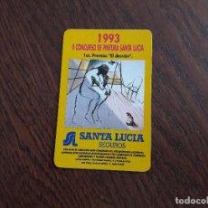 Coleccionismo Calendarios - calendario fournier seguros Santa Lucía, II concurso de pintura. año 1993 - 118005963
