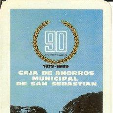 Coleccionismo Calendarios: CALENDARIO FOURNIER BANCOS - 1969 - CAJA DE AHORROS MUNICIPAL DE SAN SEBASTIÁN. Lote 118301623