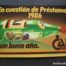Coleccionismo Calendarios: CALENDARIO CAJA DE AHORROS DE LA INMACULADA 1986. Lote 118741935