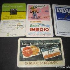 Coleccionismo Calendarios: 4 CALENDARIOS FOURNIER BANCO ZARAGOZANO 1982 - 1987, IMEDIO 1979, BBV1989. Lote 118848235