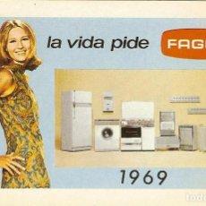 Coleccionismo Calendarios: CALENDARIO FOURNIER - 1969 - FAGOR. Lote 119530363