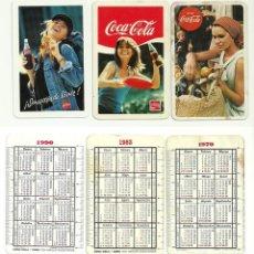 Coleccionismo Calendarios: COCA-COLA, CALENDARIOS 1970, 1983 Y 1990. Lote 119934023