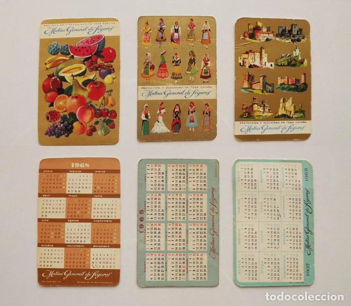 1965, 1968 Y 1969, CALENDARIOS MUTUA GENERAL DE SEGUROS (Coleccionismo - Calendarios)