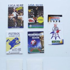 Coleccionismo Calendarios: 1981 A 1998, 5 CALENDARIOS DE FUTBOL LIGA Y MUNDIAL. Lote 119983975
