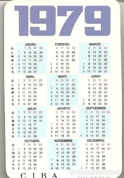 Calendario Del 1979.Calendario Publicitario Cibalgina Medicamento Sold