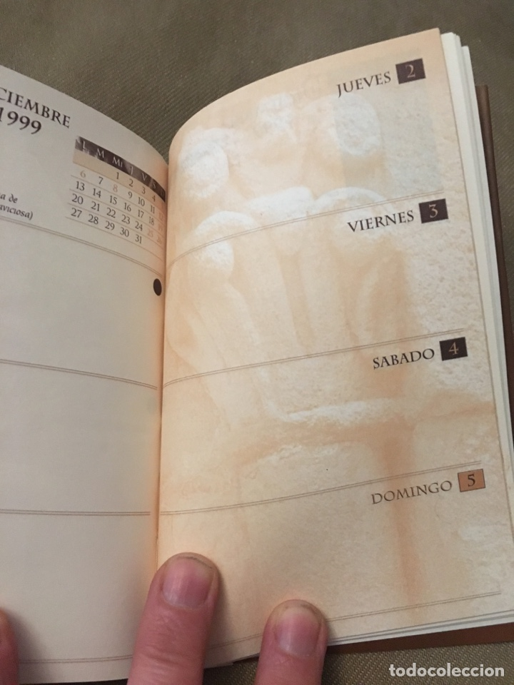 Coleccionismo Calendarios: Agenda 1999 HISTORIA EN LA PIEDRA - Foto 7 - 120179008