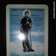 Coleccionismo Calendarios: CALENDARIO FOURNIER FRAY MARTÍN DE PORRES. AÑO 1958.. Lote 121191167