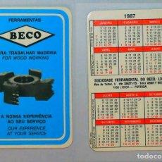 Coleccionismo Calendarios: CALENDARIO, PUBLICADO PORTUGAL - 1987 - SOCIEDADE FERRAMENTAL DO BECO, LDA.. Lote 121217735