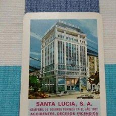 Coleccionismo Calendarios: ANTIGUO CALENDARIO FOURNIER 1969, SEGUROS SANTA LUCIA. Lote 121475447