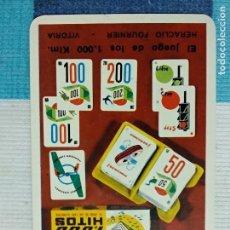 Coleccionismo Calendarios: ANTIGUO CALENDARIO FOURNIER 1965, PUBLICIDAD CARTAS FOURNIER 1000 HITOS. Lote 121479815