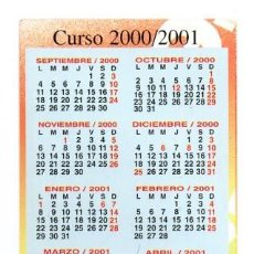 Coleccionismo Calendarios: CALENDARIO DE PUBLICIDAD 2001 LIBRERIA PASTOR (DIPTICO). Lote 121723887