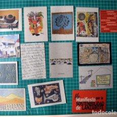 Coleccionismo Calendarios: 14 CALENDARIOS DE BOLSILLO FUNDACIÓN CÉSAR MANRIQUE - TEGUISE - LANZAROTE. Lote 122555435