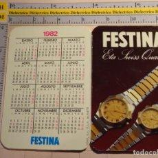 Coleccionismo Calendarios: CALENDARIO DE BOLSILLO. AÑO 1982. RELOJES FESTINA. RELOJ. Lote 161653241