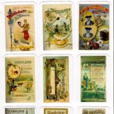Coleccionismo Calendarios: -76824 9 CALENDARIOS CARTELES SAN FERMINES, TOROS,AÑO 2018, DESDE 1881, EMISION PARTICULAR, 2º JUEGO. Lote 195233151