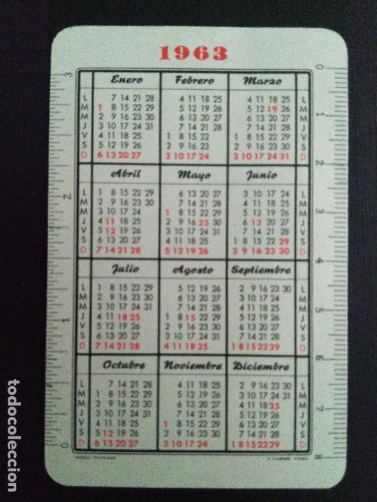 Coleccionismo Calendarios: Calendario Fournier del Banco de Aragón. Año 1963. - Foto 2 - 124679363