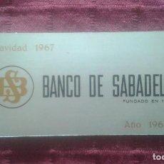 Coleccionismo Calendarios: CALENDARIO METALICO. BANCO DE SABADELL. AÑO 1968. ALUMINIO. NAVIDAD 1967.. Lote 125064275