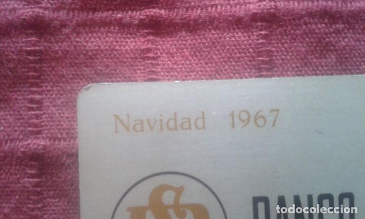 Coleccionismo Calendarios: CALENDARIO METALICO. BANCO DE SABADELL. AÑO 1968. ALUMINIO. NAVIDAD 1967. - Foto 3 - 125064275