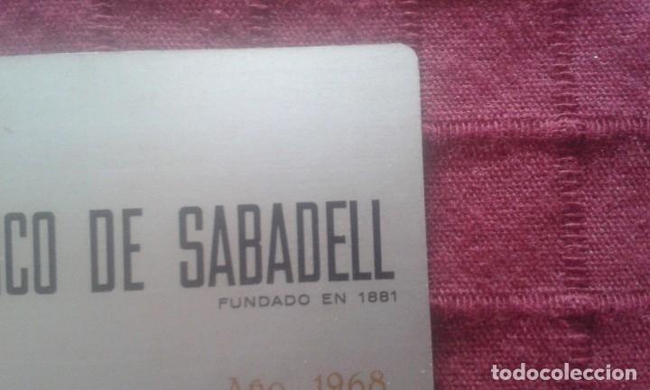 Coleccionismo Calendarios: CALENDARIO METALICO. BANCO DE SABADELL. AÑO 1968. ALUMINIO. NAVIDAD 1967. - Foto 7 - 125064275