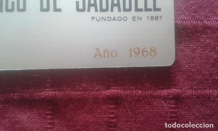 Coleccionismo Calendarios: CALENDARIO METALICO. BANCO DE SABADELL. AÑO 1968. ALUMINIO. NAVIDAD 1967. - Foto 10 - 125064275