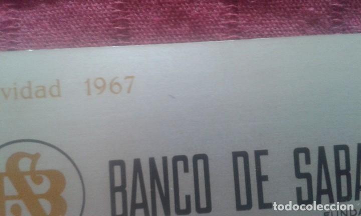 Coleccionismo Calendarios: CALENDARIO METALICO. BANCO DE SABADELL. AÑO 1968. ALUMINIO. NAVIDAD 1967. - Foto 2 - 125064275