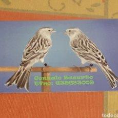 Collezionismo Calendari: CALENDARIO DE BOLSILLO PUBLICITARIO BURGOS ANIMALES PÁJAROS. AÑO 2018. Lote 125144183