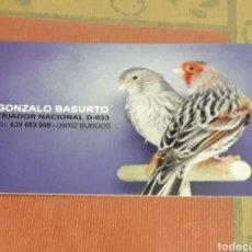 Collezionismo Calendari: CALENDARIO DE BOLSILLO PUBLICITARIO BURGOS ANIMALES PAJAROS. AÑO 2018. Lote 125144251