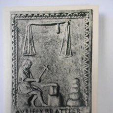 Coleccionismo Calendarios: CALENDARIO DIPTICO (JOYERIA PALOU,S.A. AÑO 1959 (INSIGNIA DE ORFEBRE ROMANO EN MÁRMOL). Lote 125247003