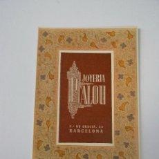 Coleccionismo Calendarios: CALENDARIO DIPTICO (JOYERIA PALOU,S.A. AÑO 1953. Lote 125250839