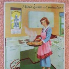 Coleccionismo Calendarios: NOVELDA(ALICANTE)BONITO CALENDARIO 1954.EL CAMPANAR(CONDIMENTOS)CARTÓN DE 34X24 CM, PERFECTO ESTADO.. Lote 125433147