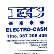 Coleccionismo Calendarios: CALENDARIO DE PUBLICIDAD 2015 ELECTRO - CASH. Lote 125979079