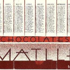 Coleccionismo Calendarios: CALENDARIO SANTORAL CHOCOLATES AMATLLER - AÑO 1935 - TRÍPTICO. Lote 126038407