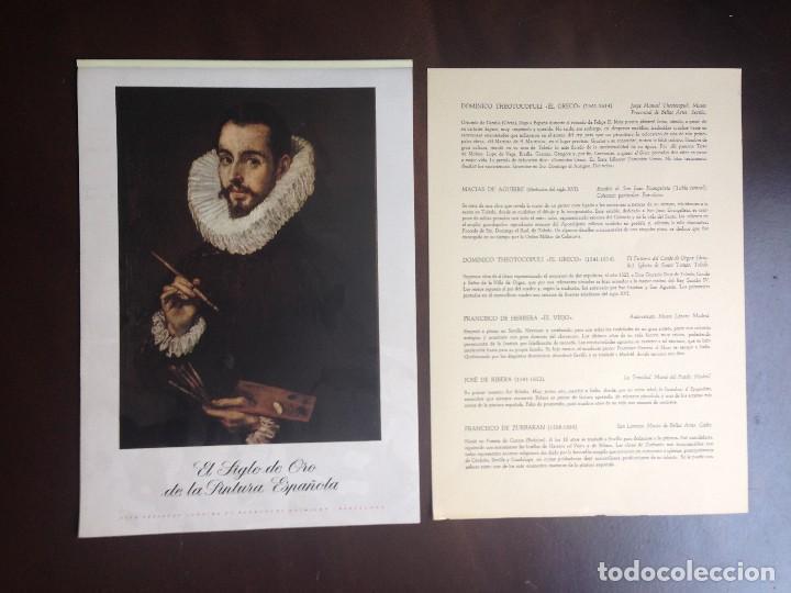 CALENDARIO- 1.957- CIBA SA PRODUCTOS QUÍMICOS- BARCELONA- EL SIGLO DE ORO DE LA PINTURA ESPAÑOLA - (Coleccionismo - Calendarios)