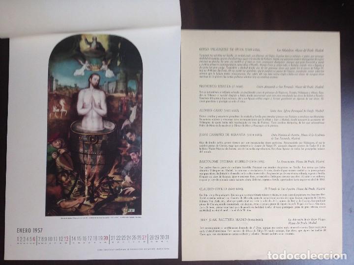 Coleccionismo Calendarios: CALENDARIO- 1.957- CIBA SA PRODUCTOS QUÍMICOS- BARCELONA- EL SIGLO DE ORO DE LA PINTURA ESPAÑOLA - - Foto 2 - 126390963