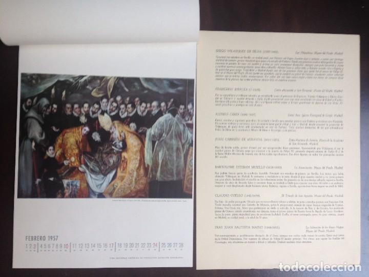 Coleccionismo Calendarios: CALENDARIO- 1.957- CIBA SA PRODUCTOS QUÍMICOS- BARCELONA- EL SIGLO DE ORO DE LA PINTURA ESPAÑOLA - - Foto 3 - 126390963