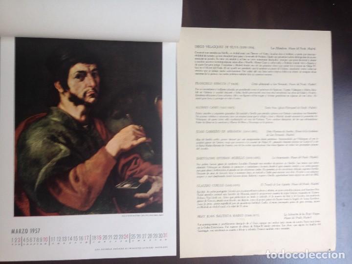 Coleccionismo Calendarios: CALENDARIO- 1.957- CIBA SA PRODUCTOS QUÍMICOS- BARCELONA- EL SIGLO DE ORO DE LA PINTURA ESPAÑOLA - - Foto 4 - 126390963