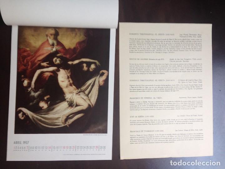 Coleccionismo Calendarios: CALENDARIO- 1.957- CIBA SA PRODUCTOS QUÍMICOS- BARCELONA- EL SIGLO DE ORO DE LA PINTURA ESPAÑOLA - - Foto 5 - 126390963
