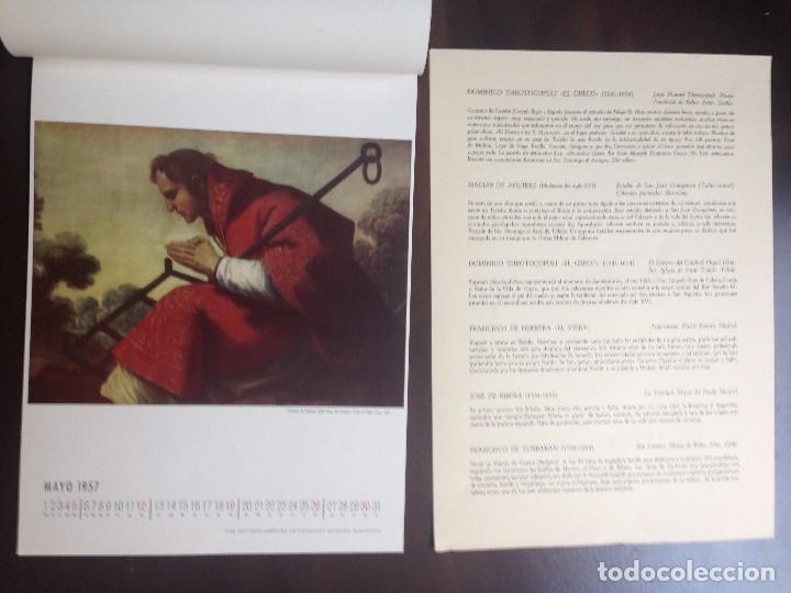 Coleccionismo Calendarios: CALENDARIO- 1.957- CIBA SA PRODUCTOS QUÍMICOS- BARCELONA- EL SIGLO DE ORO DE LA PINTURA ESPAÑOLA - - Foto 6 - 126390963