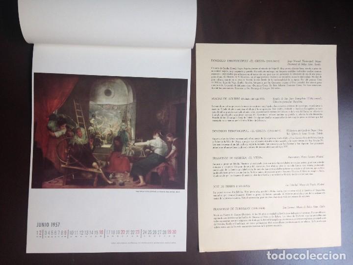 Coleccionismo Calendarios: CALENDARIO- 1.957- CIBA SA PRODUCTOS QUÍMICOS- BARCELONA- EL SIGLO DE ORO DE LA PINTURA ESPAÑOLA - - Foto 7 - 126390963