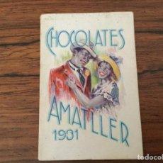 Collezionismo Calendari: CALENDARIO ALMANAQUE DE CHOCOLATES AMATLLER DE 1931. Lote 126885823