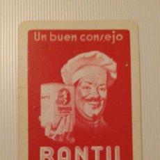 Coleccionismo Calendarios: FOURNIER 1950! CALENDARIO FOURNIER DE PASTAS BANTÚ. VER FOTOS.. Lote 126507215