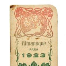 Coleccionismo Calendarios: CALENDARIO ALMANAQUE PUBLICIDAD IMPRENTA MODERNA LEÓN AÑO 1923. Lote 127629327
