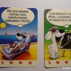 Coleccionismo Calendarios: LOTE CALENDARIOS HUMOR BAYER .- 1992. Lote 171430270