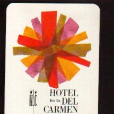 Coleccionismo Calendarios: ESCASO CALENDARIO FOURNIER AÑO 1967 EL DE LAS FOTOS HOTEL NTRA. SRª DEL CARMEN . Lote 128420423
