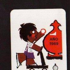 Coleccionismo Calendarios: ESCASO CALENDARIO PUBLICITARIO FOURNIER AÑO 1969 EL DE LAS FOTOS VER TODOS MIS LOTES DE CALENDARIOS. Lote 128421571