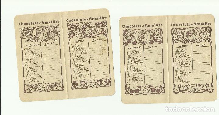 Calendario Con Santos.Chocolates Amatller Calendario Con Santos Y Notas Meses Incompleto
